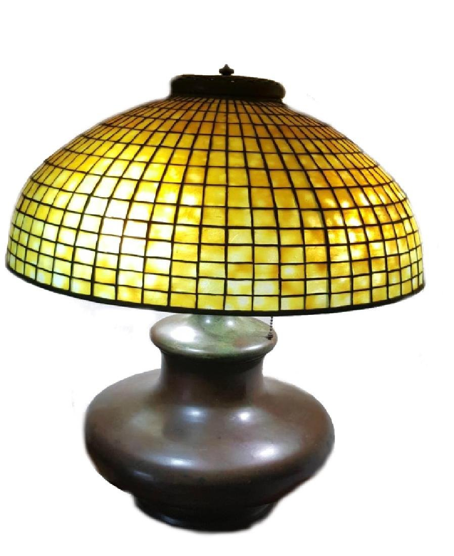 TIFFANY STUDIOS NYC LAMP SHADE WITH BASE - 2