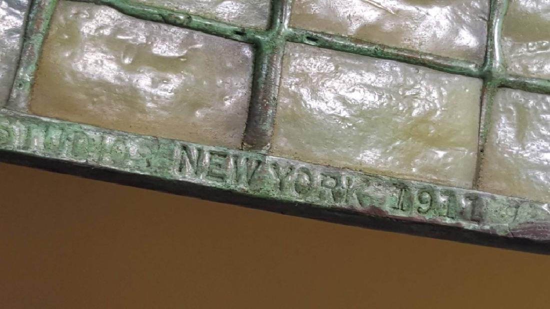 TIFFANY STUDIOS NYC LAMP SHADE WITH BASE - 3
