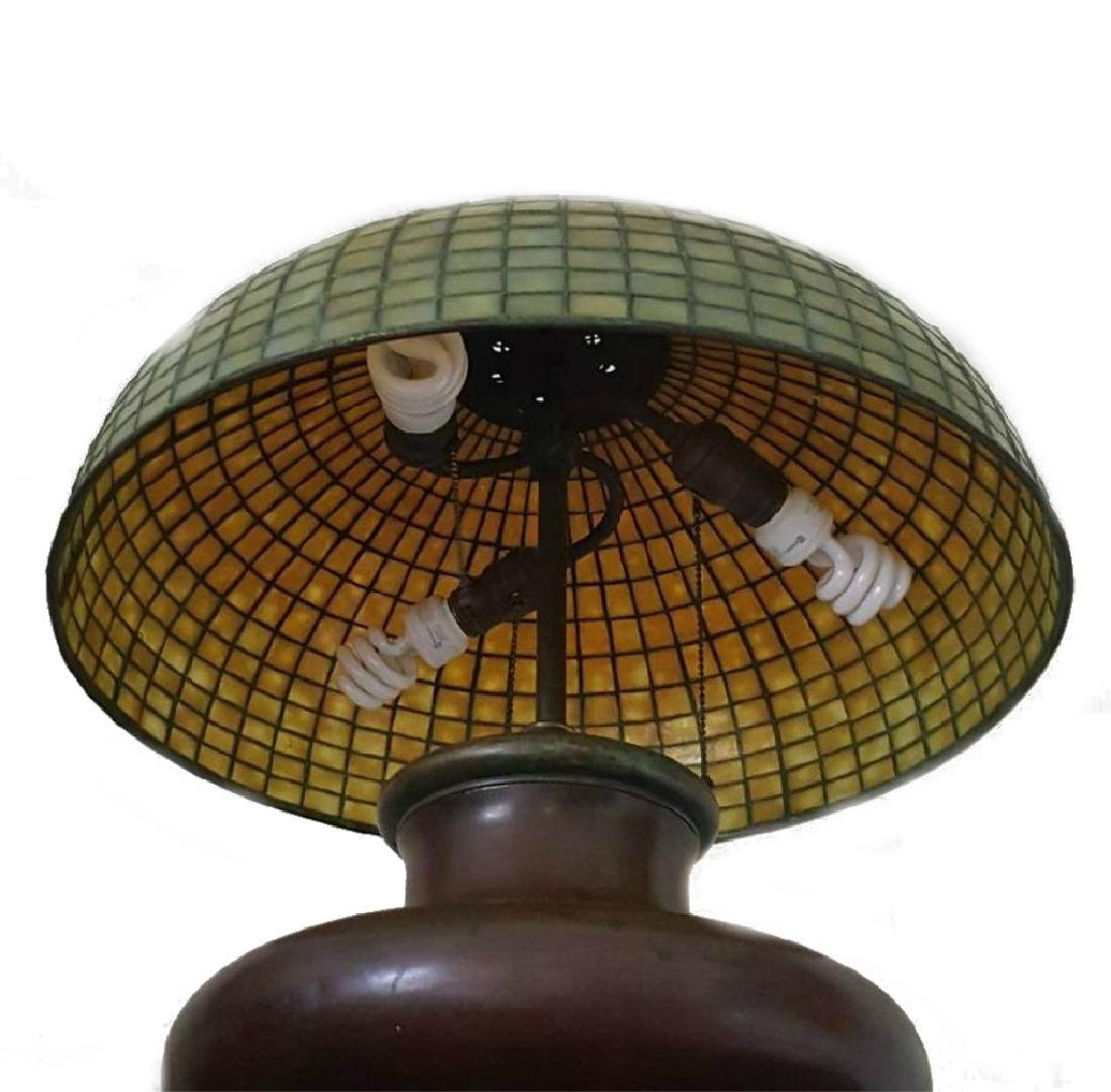 TIFFANY STUDIOS NYC LAMP SHADE WITH BASE - 4