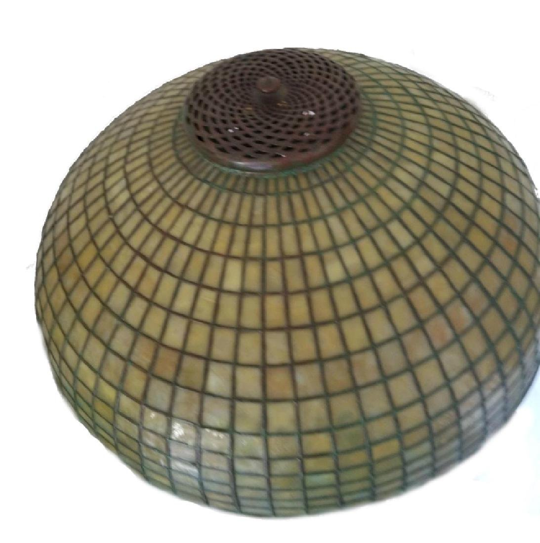 TIFFANY STUDIOS NYC LAMP SHADE WITH BASE - 5