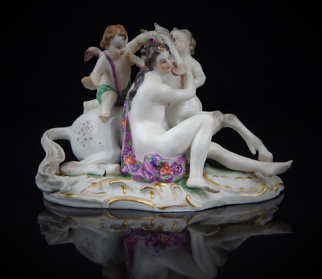 ANTIQUE MEISSEN PORCELAIN FIGURAL GROUP