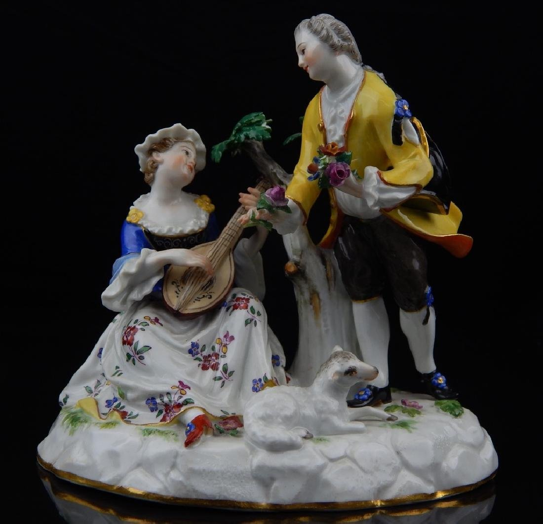ANTIQUE MEISSEN PORCELAIN FIGURAL SCULPTURE
