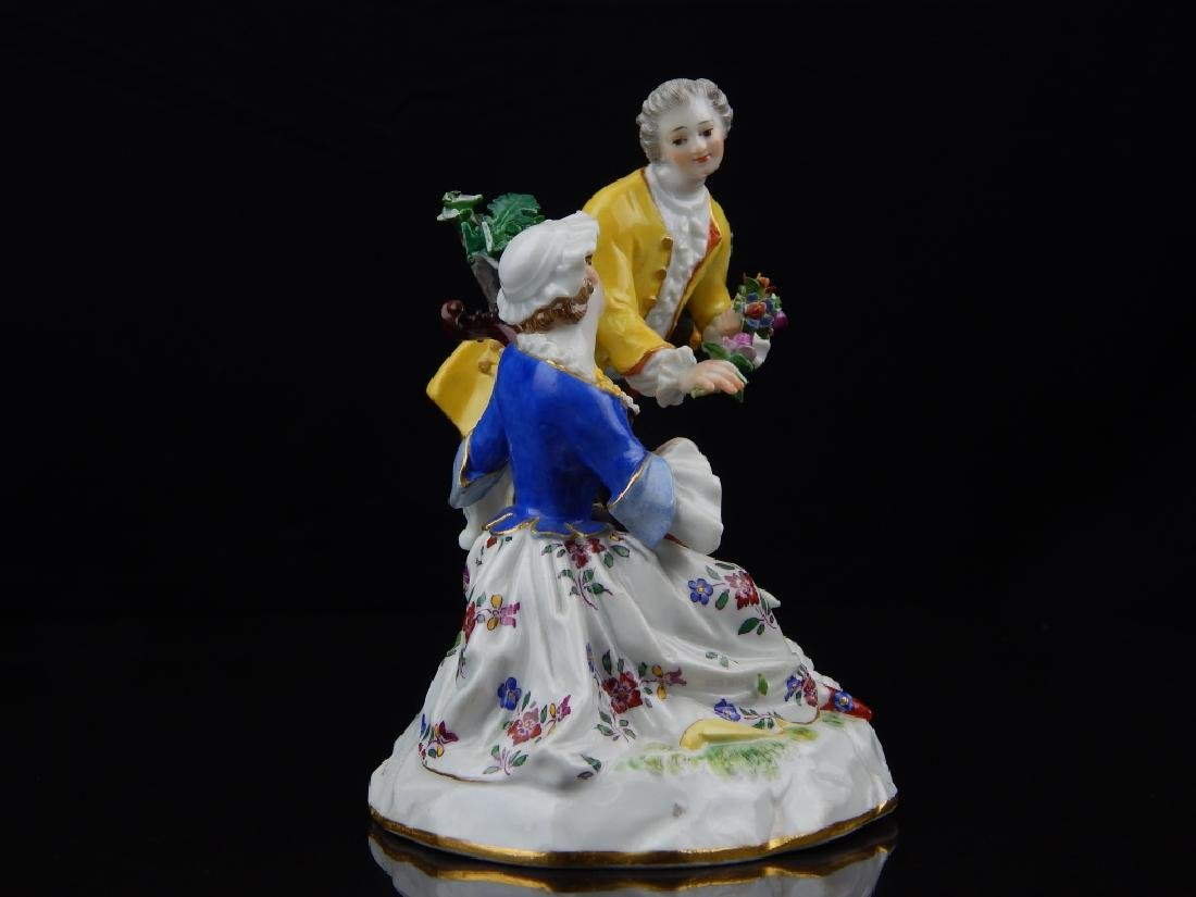 ANTIQUE MEISSEN PORCELAIN FIGURAL SCULPTURE - 5
