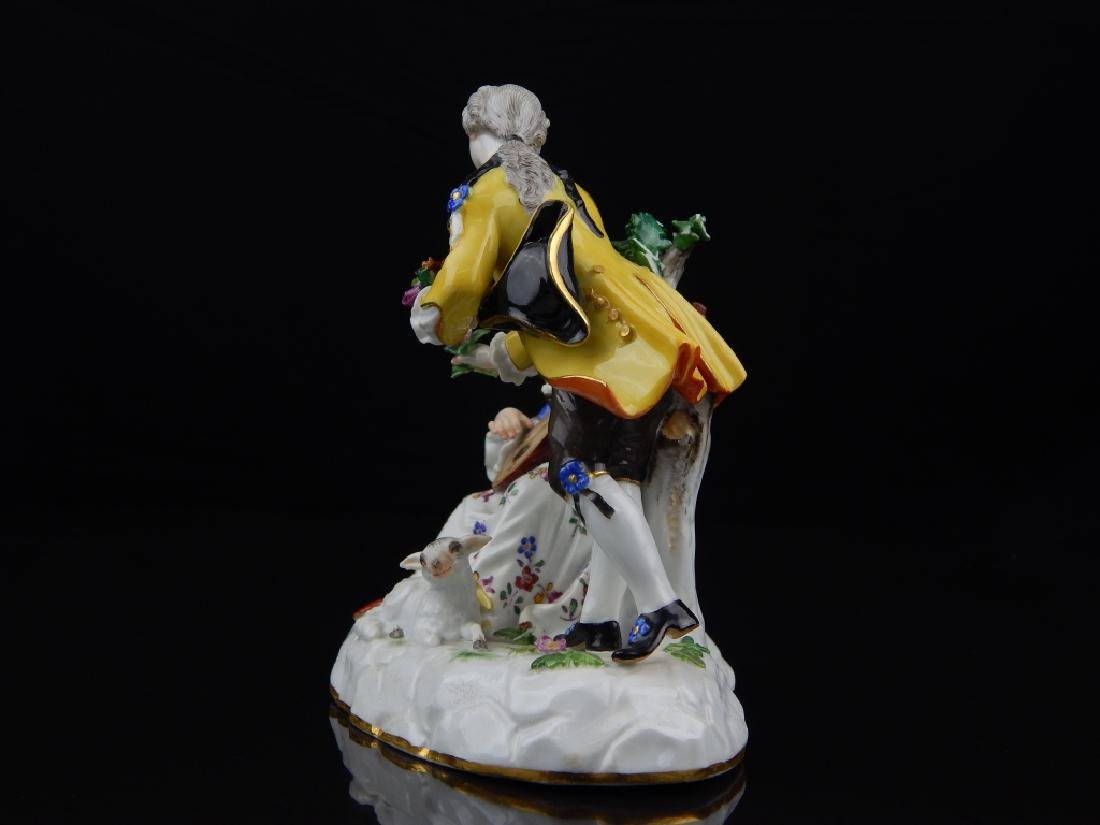 ANTIQUE MEISSEN PORCELAIN FIGURAL SCULPTURE - 7