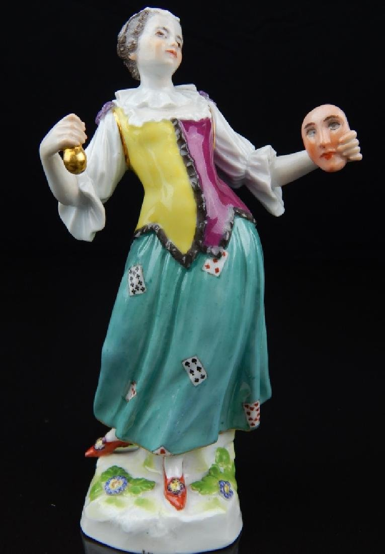 ANTIQUE MEISEEN PORCELAIN ACTRESS FIGURE - 5