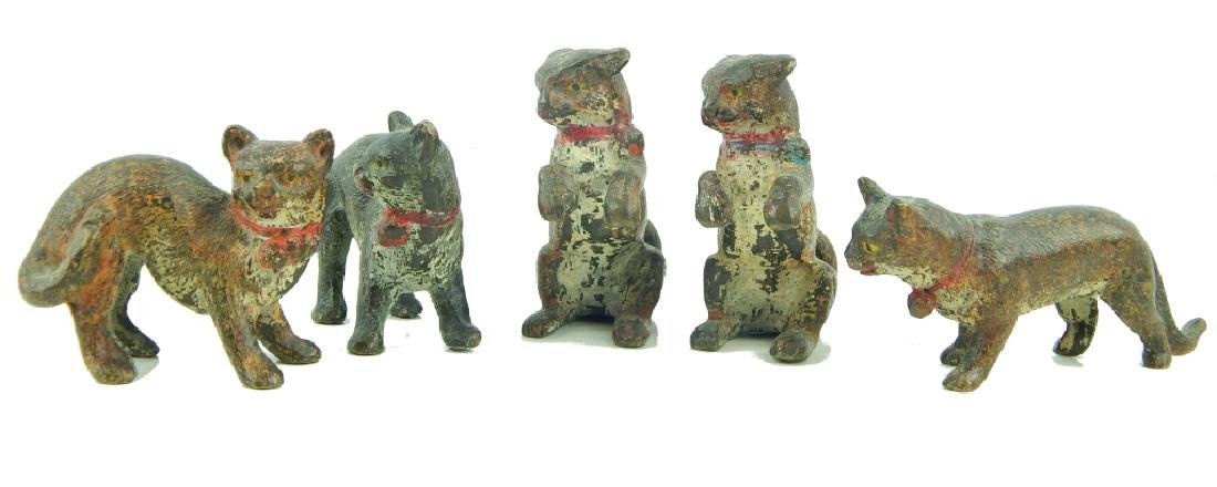 (5) ANTIQUE VIENNA COLD PAINTED BRONZE CATS