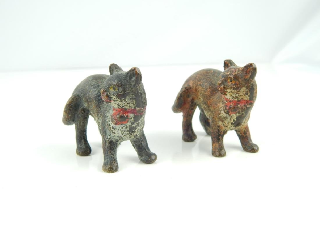 (5) ANTIQUE VIENNA COLD PAINTED BRONZE CATS - 2