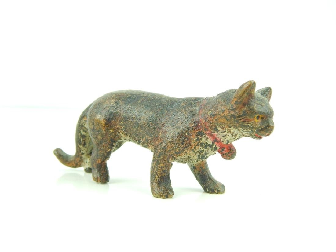 (5) ANTIQUE VIENNA COLD PAINTED BRONZE CATS - 4