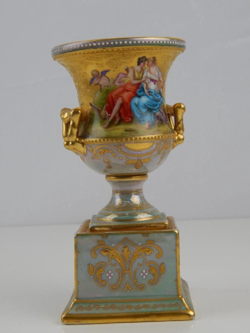 ANTIQUE FINE ROYAL VIENNA SIGNED MINIATURE VASE - 2