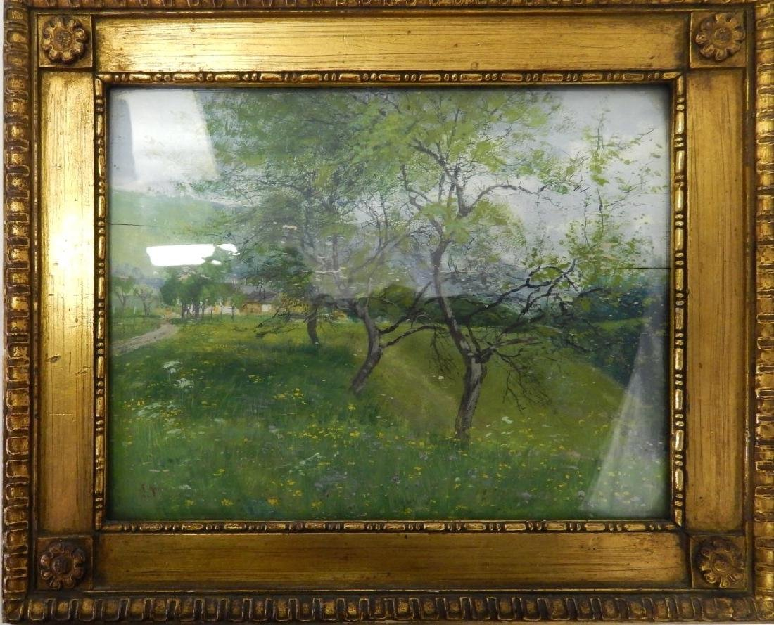 1907 A KAISER LANDSCAPE OIL PAINTING ON BOARD