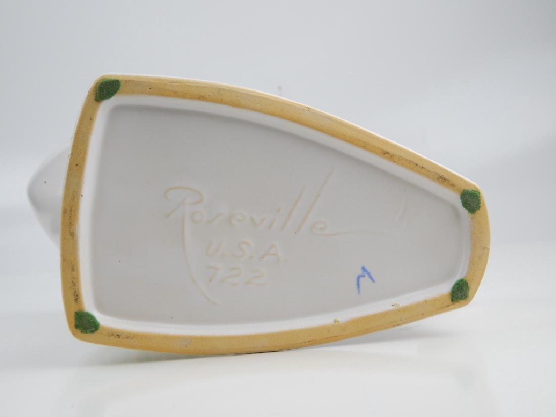ROSEVILLE SILHOUETTE CORNUCOPIA  POTTERY - 3