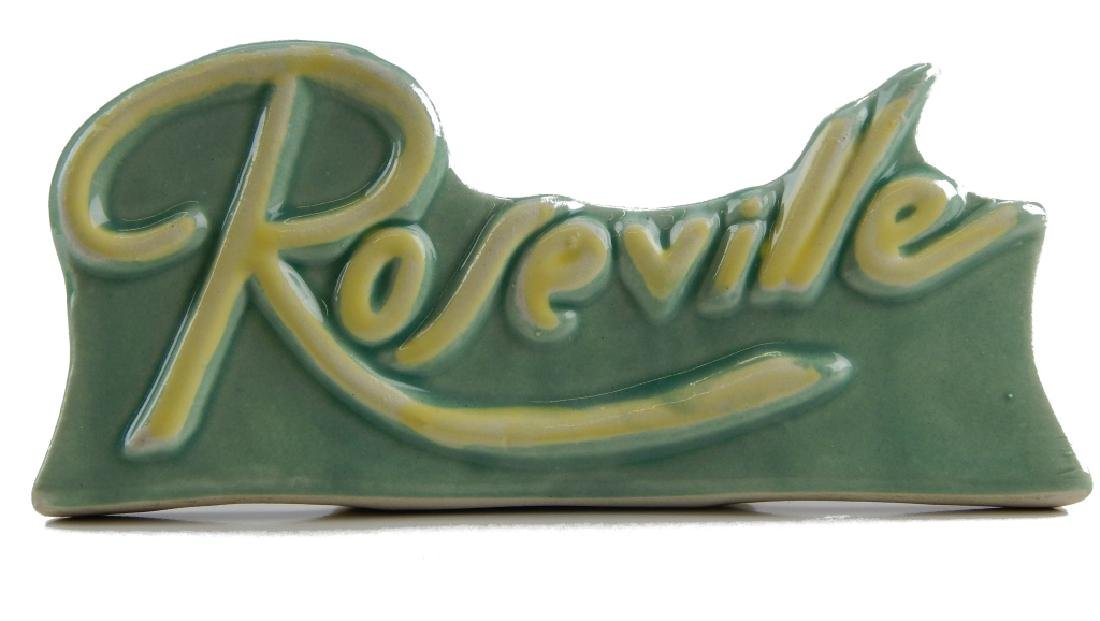 ROSEVILLE POTTERY DISPLAY SIGN