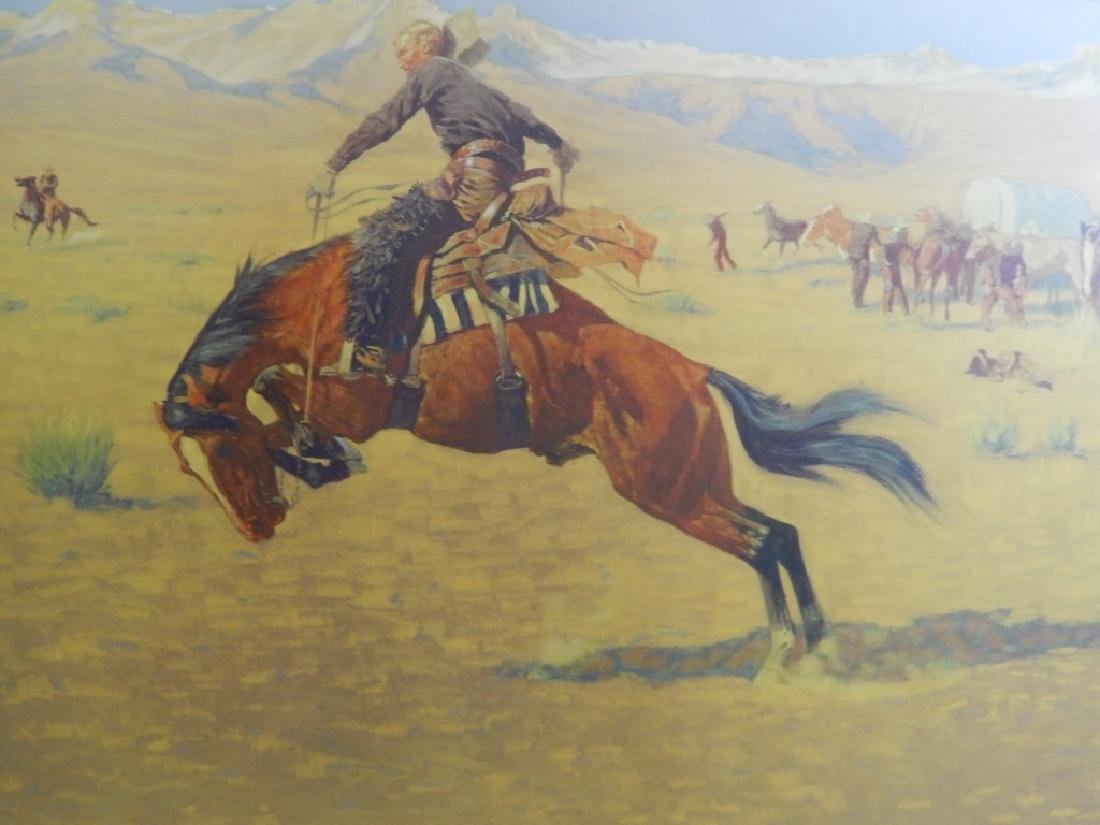 FREDERICK REMINGTON PRINT OF WESTERN SCENE