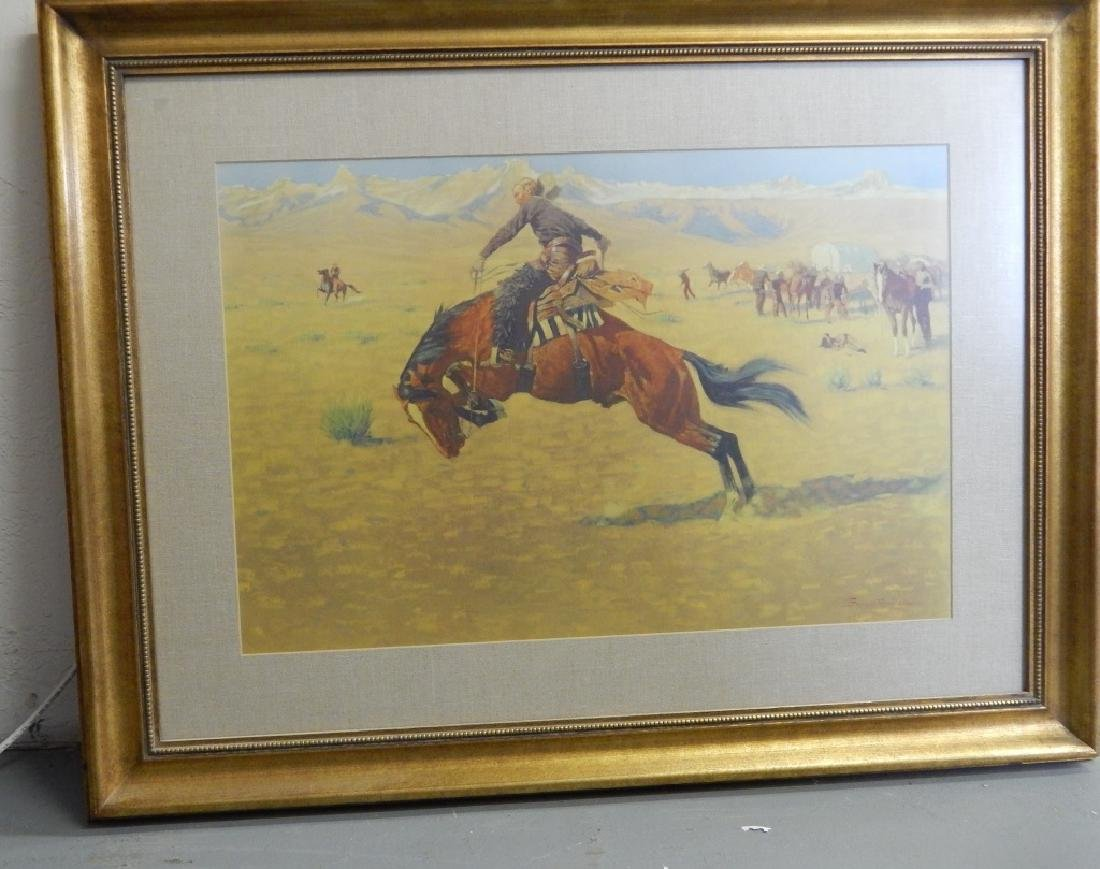 FREDERICK REMINGTON PRINT OF WESTERN SCENE - 2