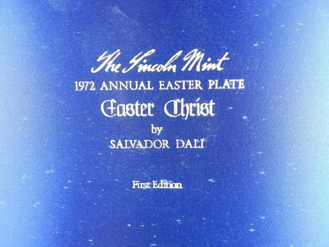 1972 DALI STERLING SILVER ANNUAL EASTER PLATE - 3