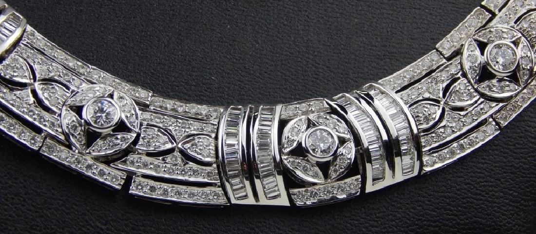 43.48CT DIAMOND 18K WHITE GOLD  CHOKER NECKLACE - 2