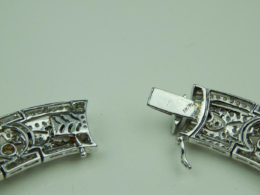 43.48CT DIAMOND 18K WHITE GOLD  CHOKER NECKLACE - 5