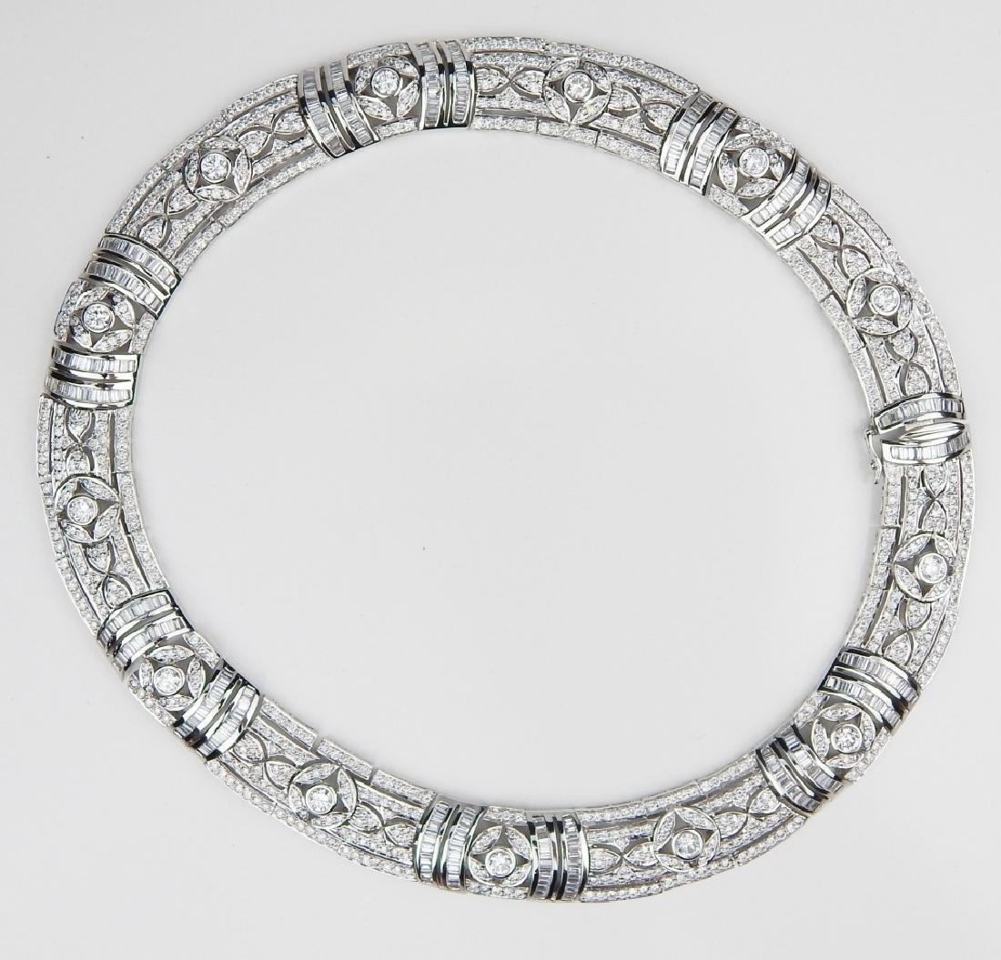 43.48CT DIAMOND 18K WHITE GOLD  CHOKER NECKLACE - 7