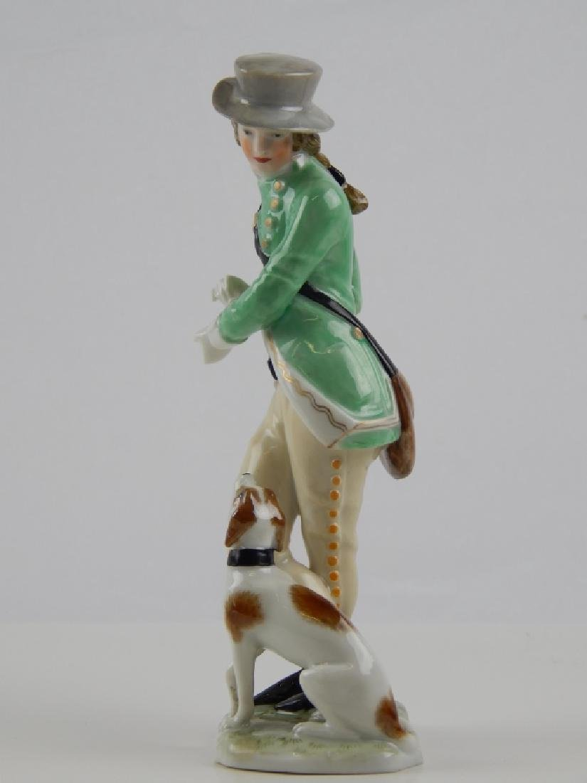 AUGARTEN VIENNA PORCELAIN FIGURE OF MAN WITH DOG - 2