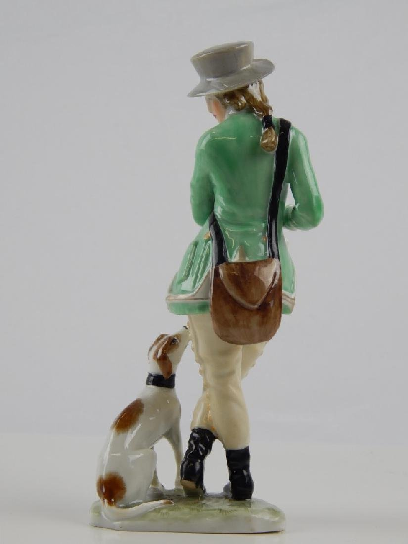 AUGARTEN VIENNA PORCELAIN FIGURE OF MAN WITH DOG - 3