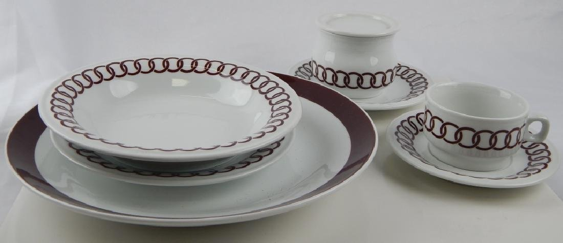 75pc RICHARD GINORI PORCELAIN CHINA DINNERWARE SET