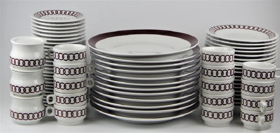 75pc RICHARD GINORI PORCELAIN CHINA DINNERWARE SET - 3