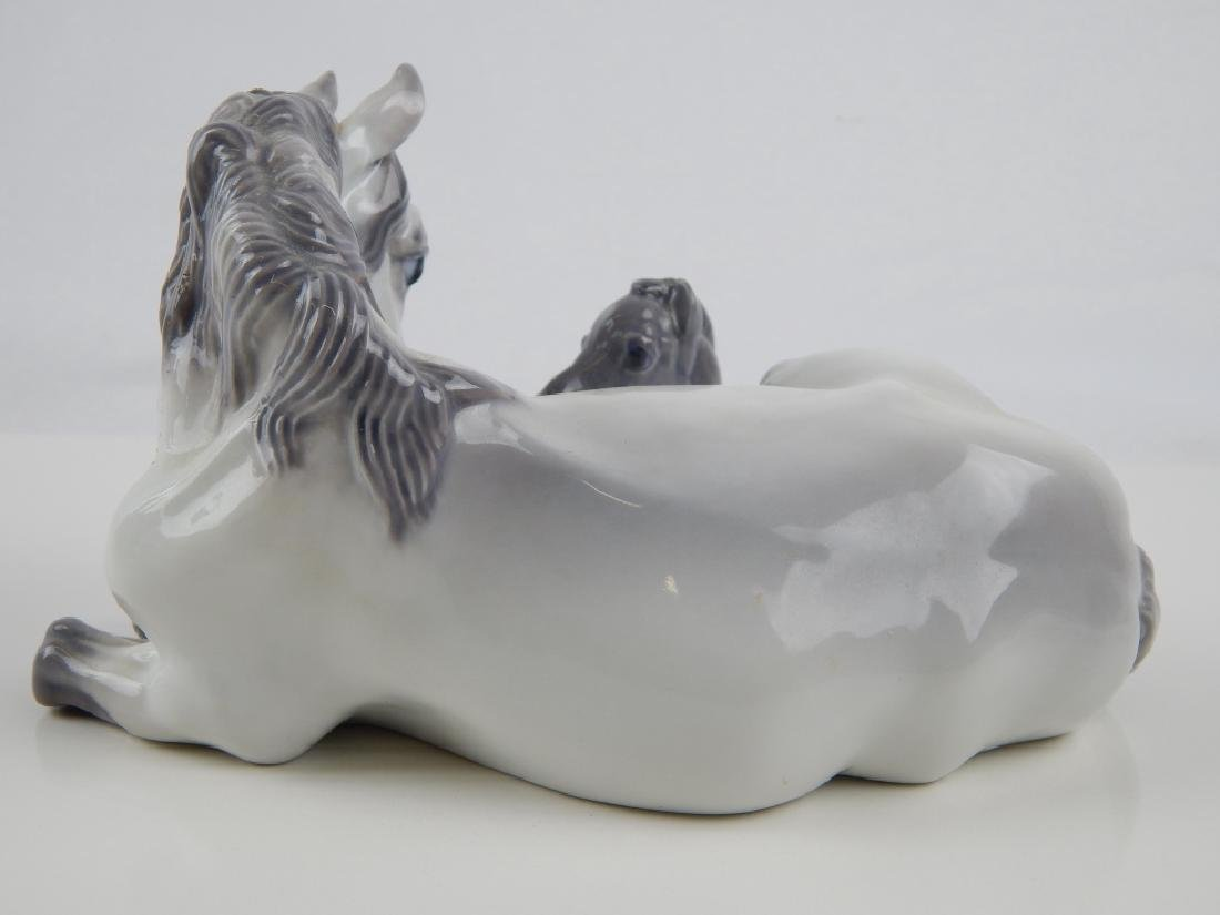 ROYAL COPENHAGEN PORCELAIN MARE & FOIL GROUP FIGUR - 2