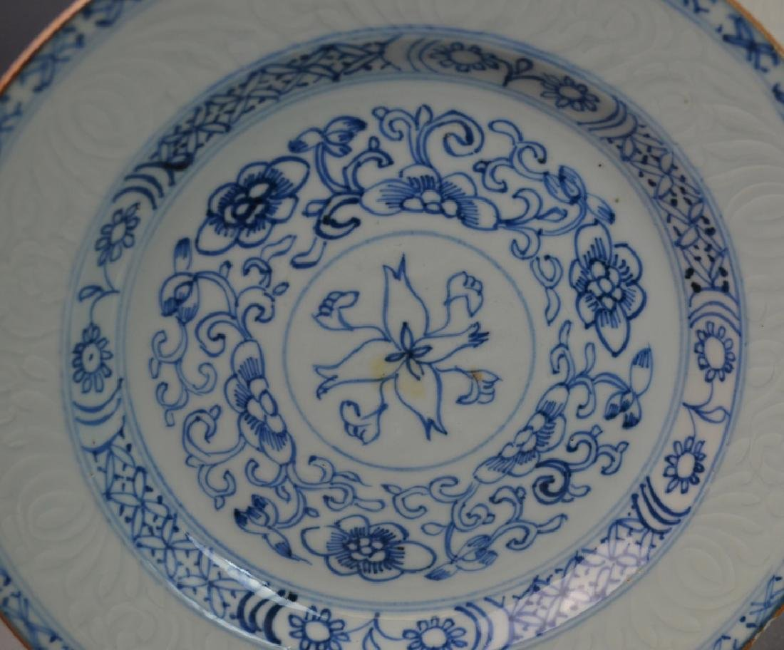 (8) CHINESE ANTIQUE BLUE & WHITE PORCELAIN PLATES - 3