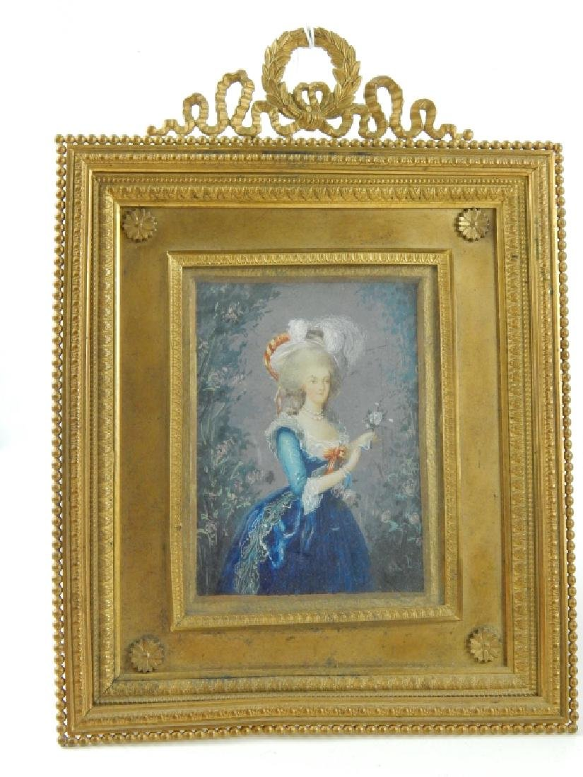 4 HAND PAINTED PORTRAITS ON IVORINE FRAMED - 5