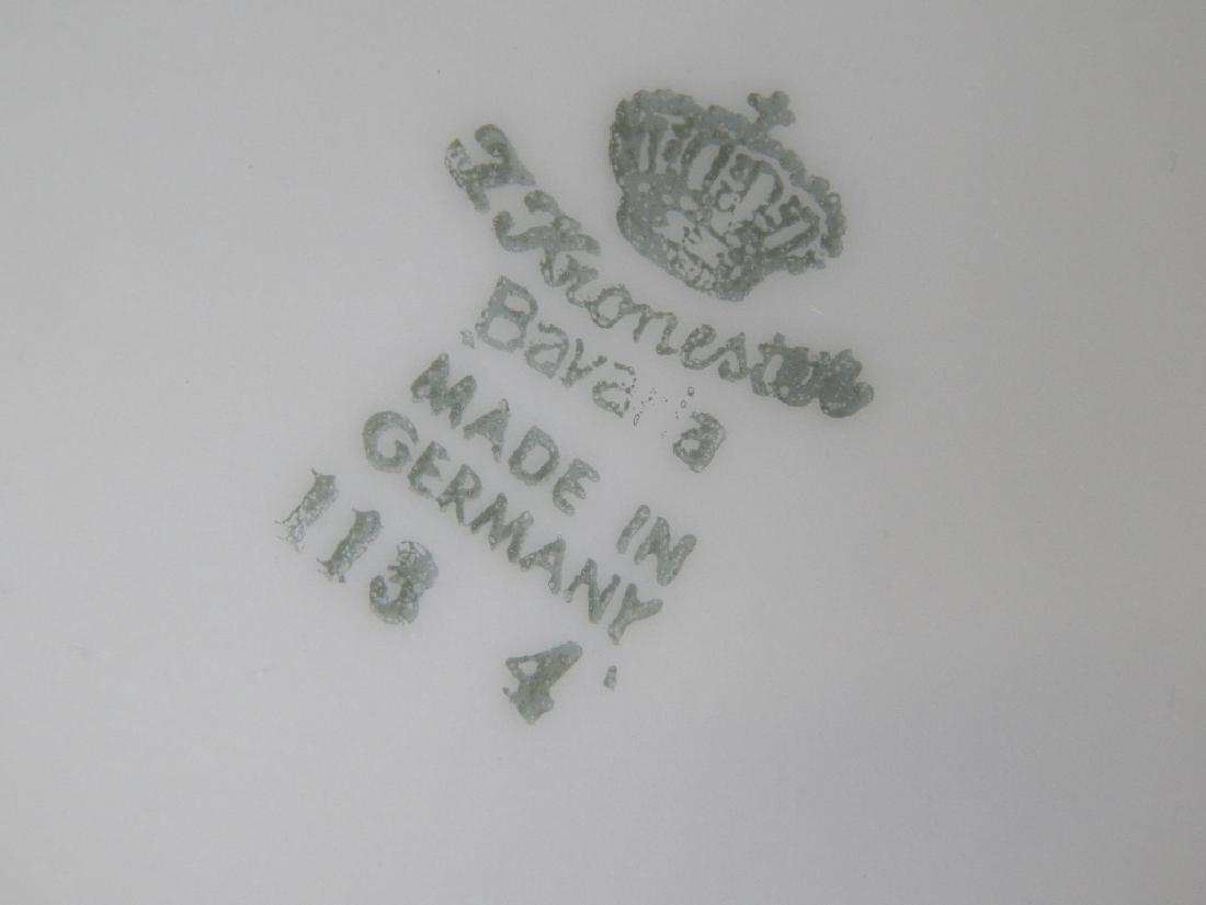 3pc KRONESTER GERMAN SILVERED PORCELAIN TEA COFFEE - 3