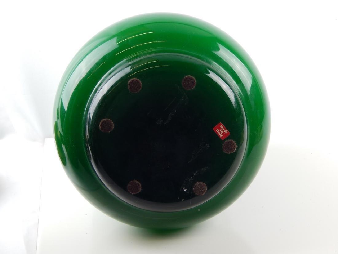 Pr SARREID SPAIN BRASS COVER ITALIAN EMERALD GLASS - 3
