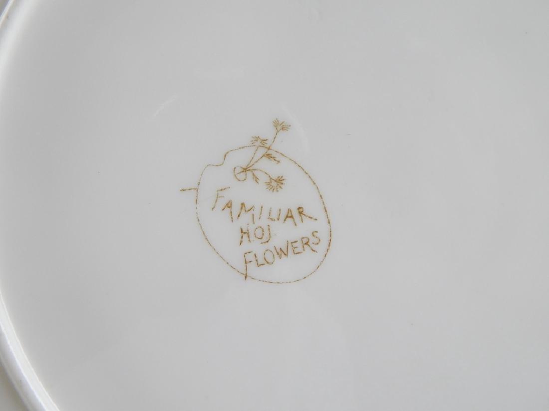 10 GEORGE JONES FAMILLIAR FLOWERS HOJ PORCELAIN PL - 4