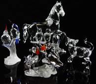 5 SWAROVSKI CRYSTAL ANIMAL SCULPTURES