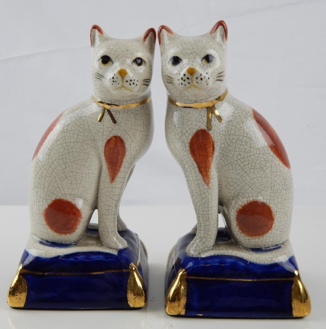 2 FITZ & FLOYD PORCELAIN  CATS