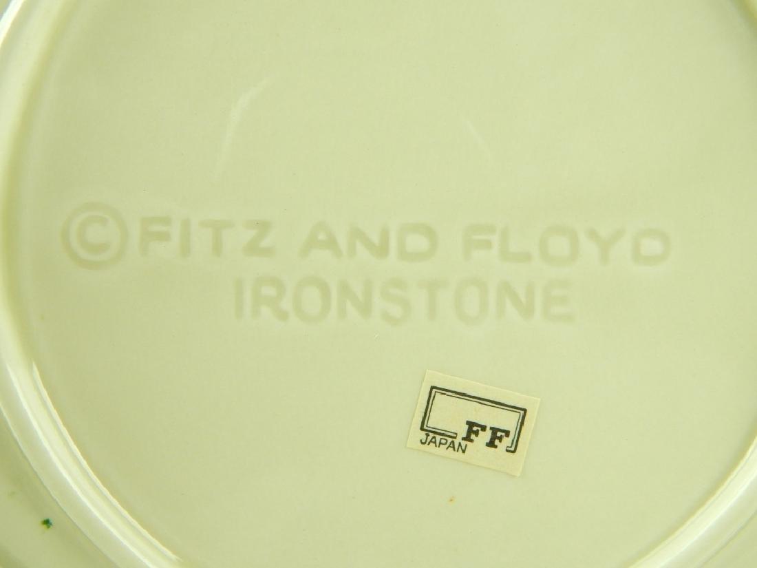 9 FITZ & FLOYD CABBAGE LEAF B&B DESSERT PLATES - 3