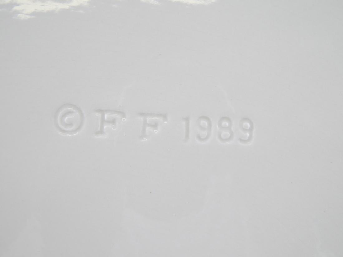 Pr 1989 FITZ & FLOYD POTTERY SERVING PLATTERS - 3