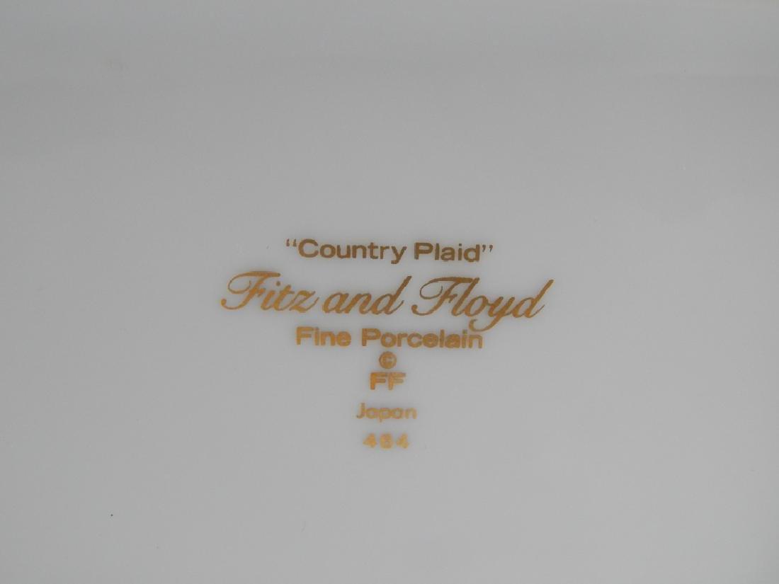 FITZ & FLOYD COUNTRY PLAID COVERED TRINKET BOX - 4