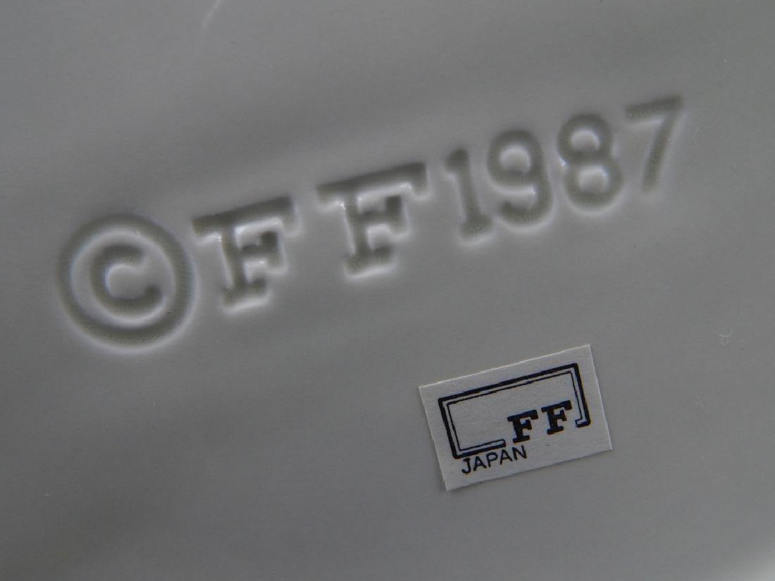 2 FITZ & FLOYD 1987 MAJOLICA FIGURAL BASKET JARS - 3