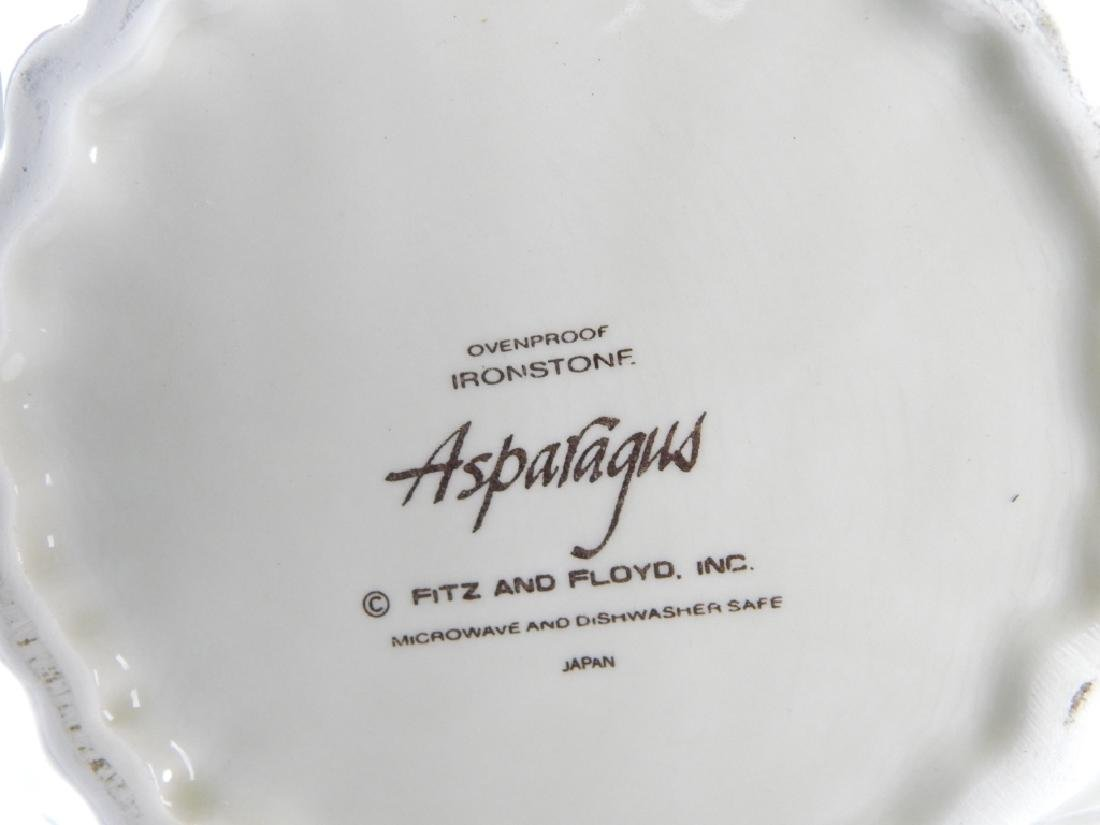 4pc FITZ & FLOYD 1987 ASPARAGUS TABLEWARE ITEMS - 2