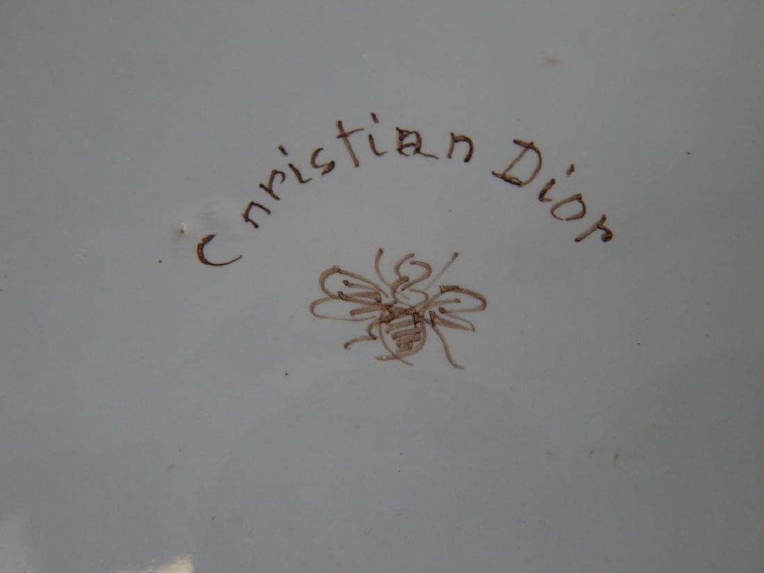 CHRISTIAN DIOR PORCELAIN FITTED APPETIZER PLATTER - 4