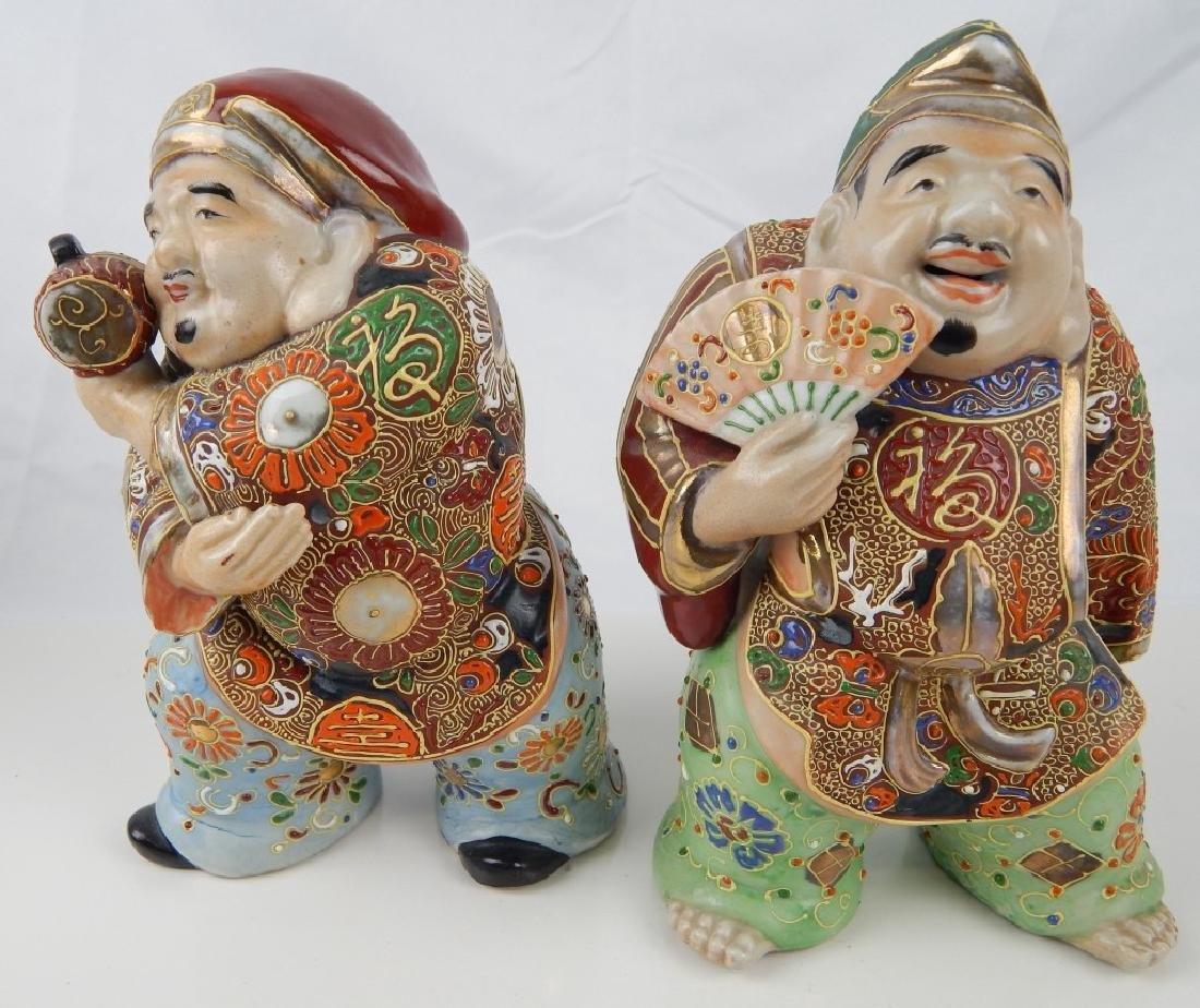 2 VINTAGE JAPANESE PORCELAIN IMMORTAL FIGURES