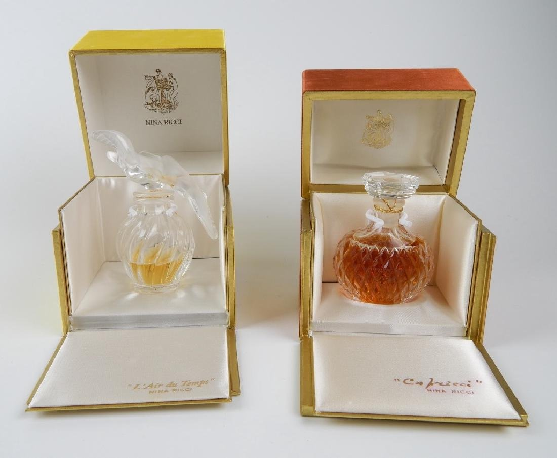 2 VINTAGE NINA RICCI PERFUME BOTTLES IN BOXES