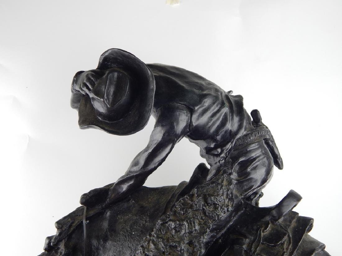 "EARLY FREDERICK REMINGTON ""THE RATTLESNAKE"" BRONZE - 2"