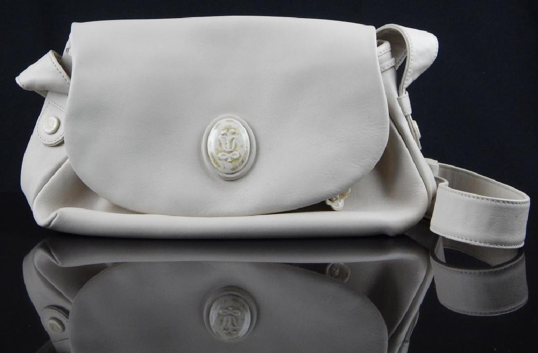 LLADRO TAN LEATHER AND PORCELAIN PURSE
