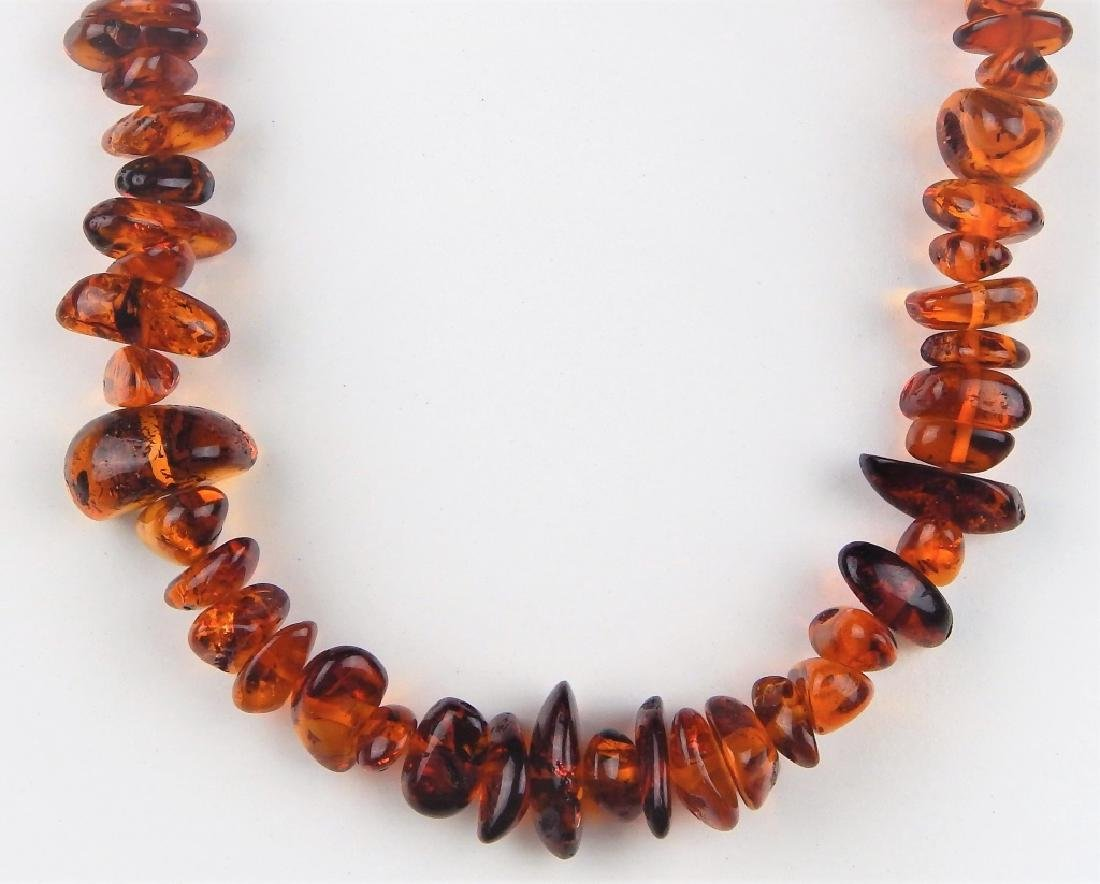 LARGE AMBER NECKLACE W/ 14K CLASP - 6