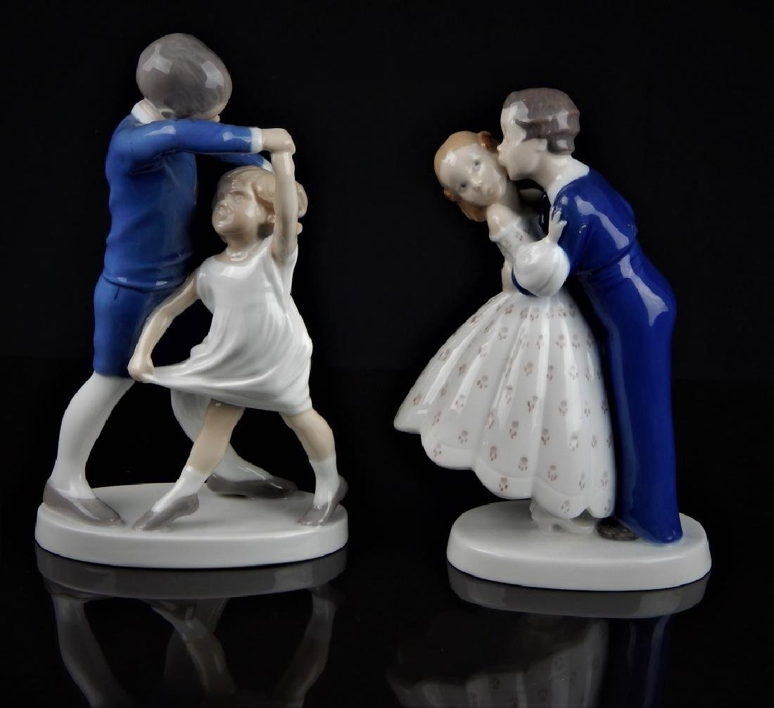 PAIR B & G DANISH PORCELAIN FIGURAL GROUP