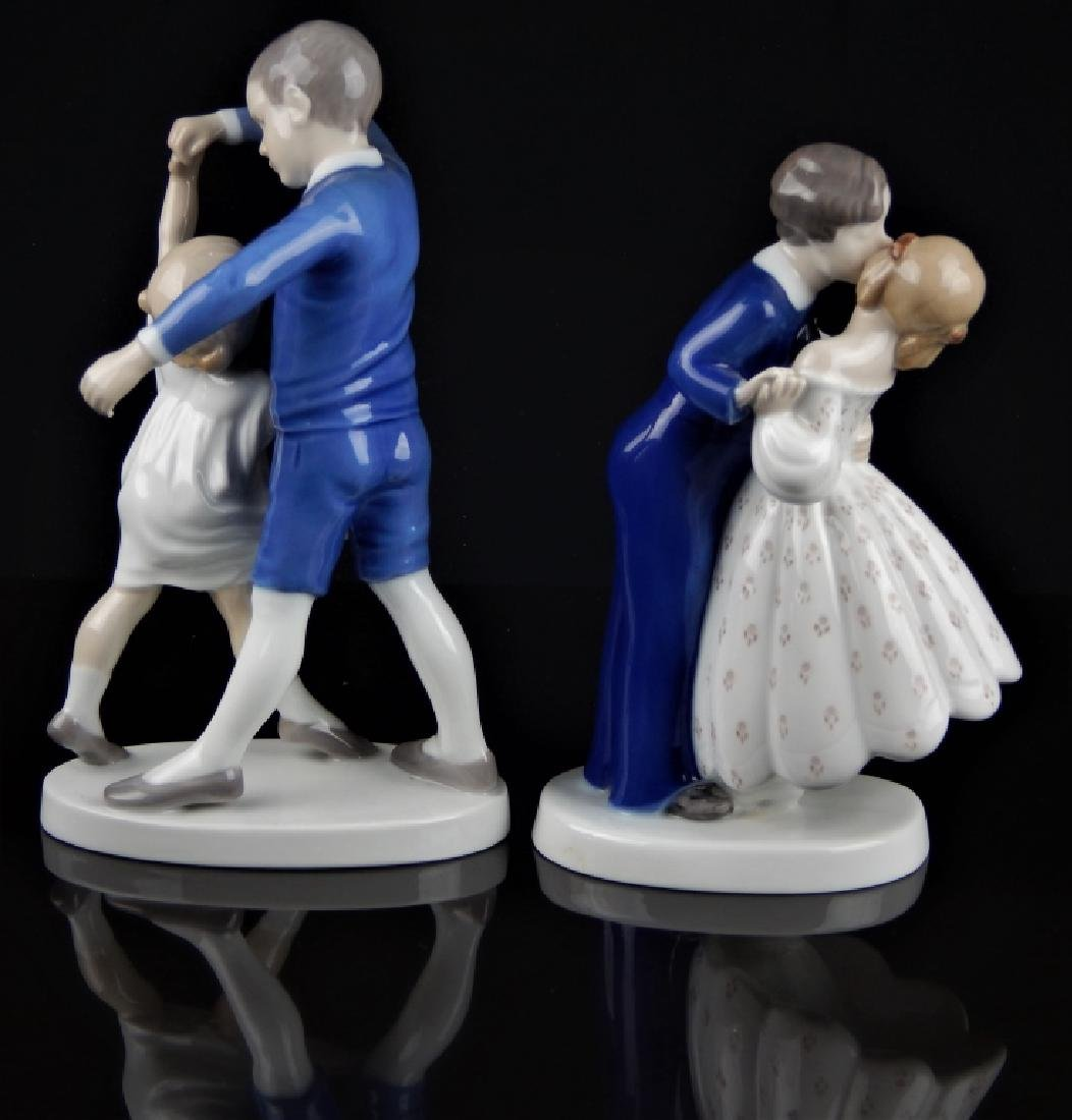 PAIR B & G DANISH PORCELAIN FIGURAL GROUP - 2