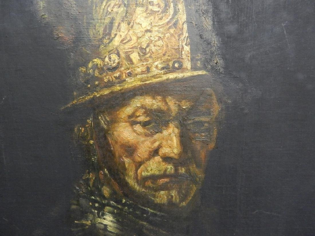 OIL PAINTING ON CANVAS MAN WITH THE GOLDEN HELMET - 2