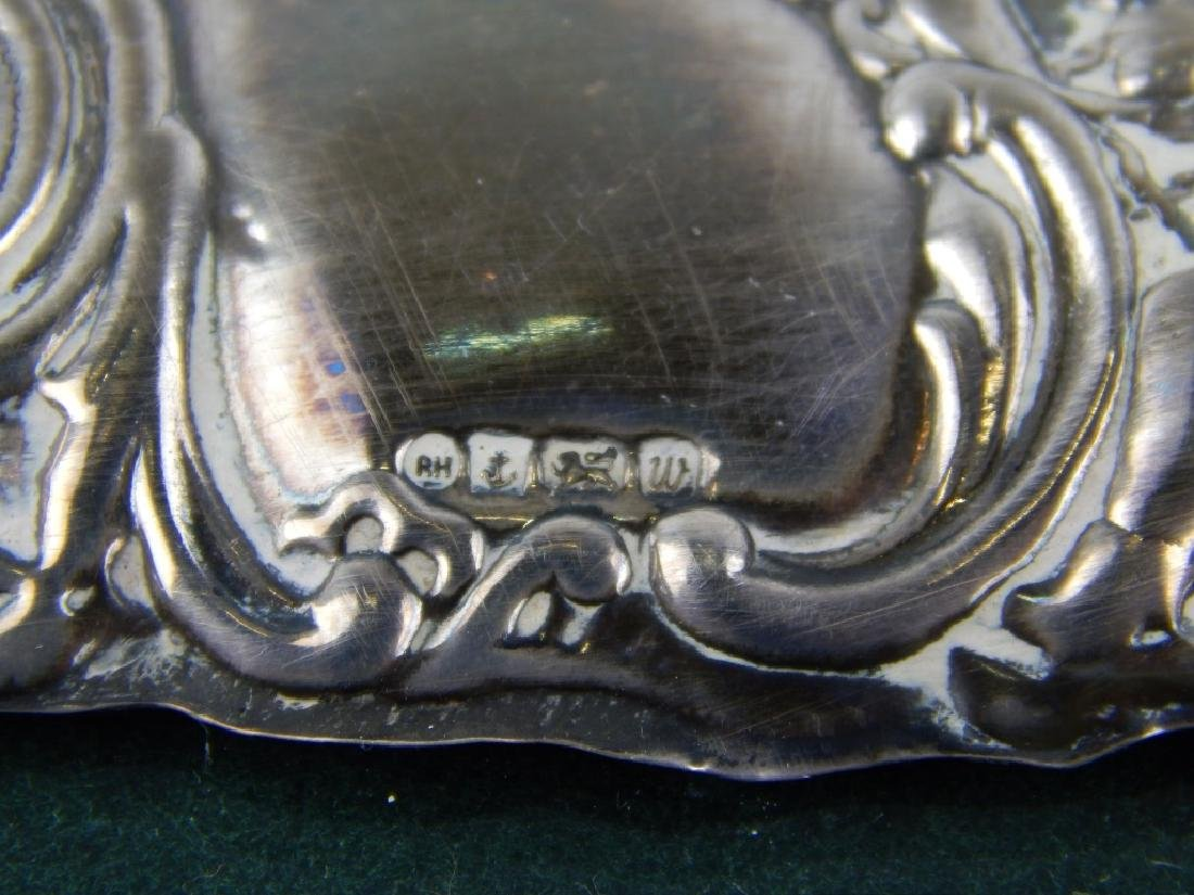 3 ENGLISH REPOUSSE STERLING SILVER PICTURE FRAMES - 5