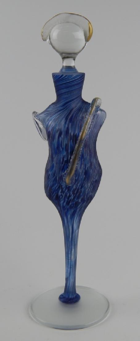 ELAINE ART GLASS FIGRUARL TORSO SCENT BOTTLE